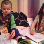 Skylar helping Quinn Draw